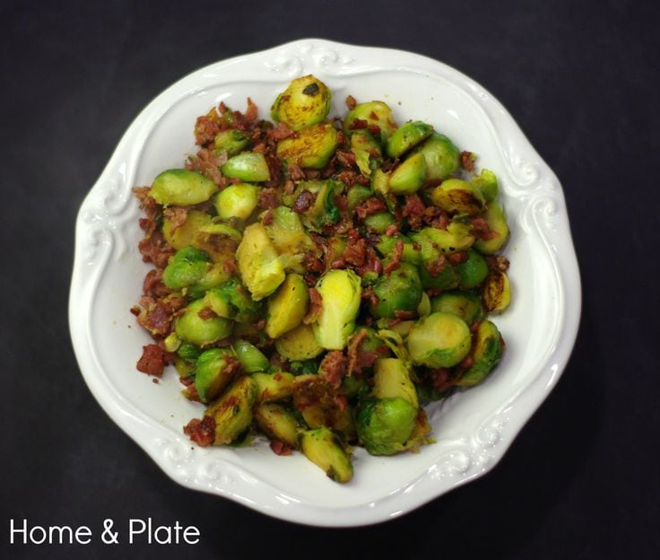 Prosciutto Caramelized Brussel Sprouts