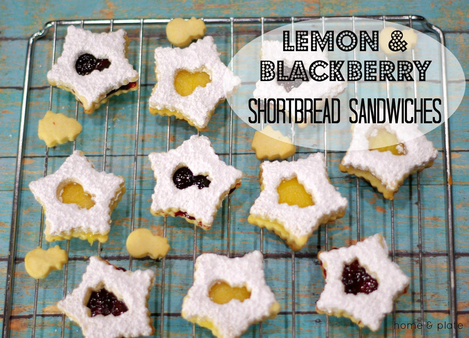 Lemon and Blackberry Shortbread Cookies | Lemon and blackberry shortbread cookies are tangy and sweet and are the perfect sandwich cookie to celebrate the holidays.