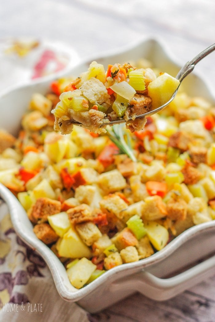 Turkey Stuffing with Bacon & Apples