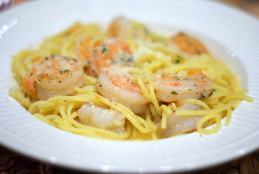 Shrimp Scampi with Lemon Spaghetti