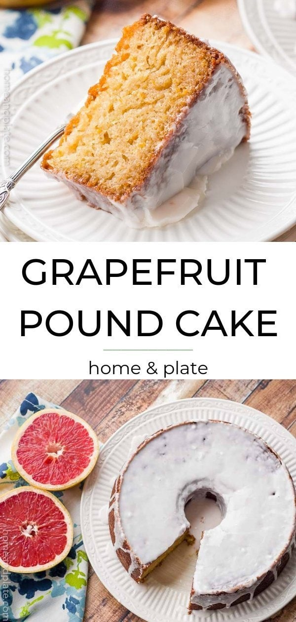 Grapefruit Pound Cake is make with ruby red grapfruit juice and zest and is ideal for brunch or any shower event.