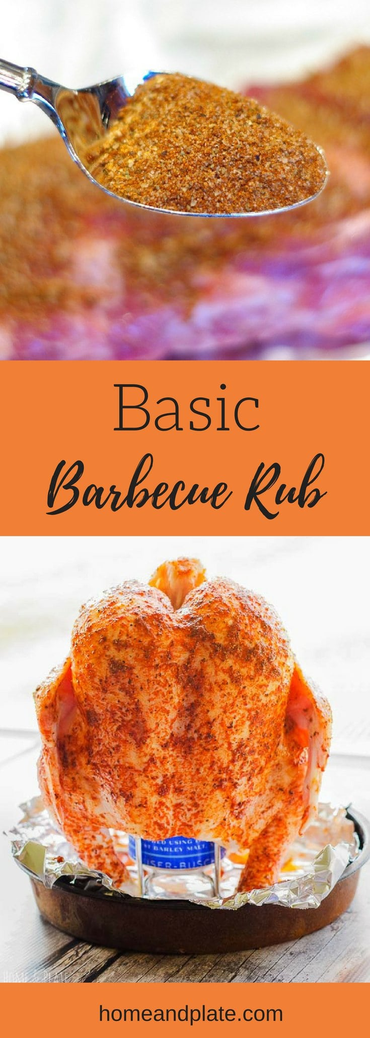 Basic Barbeque Rub | Home & Plate | www.homeandplate.com | This simple basic barbecue rub will lead to raving reviews for anything you grill.