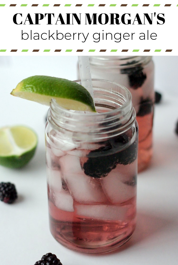 Captain Morgan Blackberry Ginger Ale | Captain Morgan's rum and blackberry flavored ginger ale come together in this refreshing cocktail.