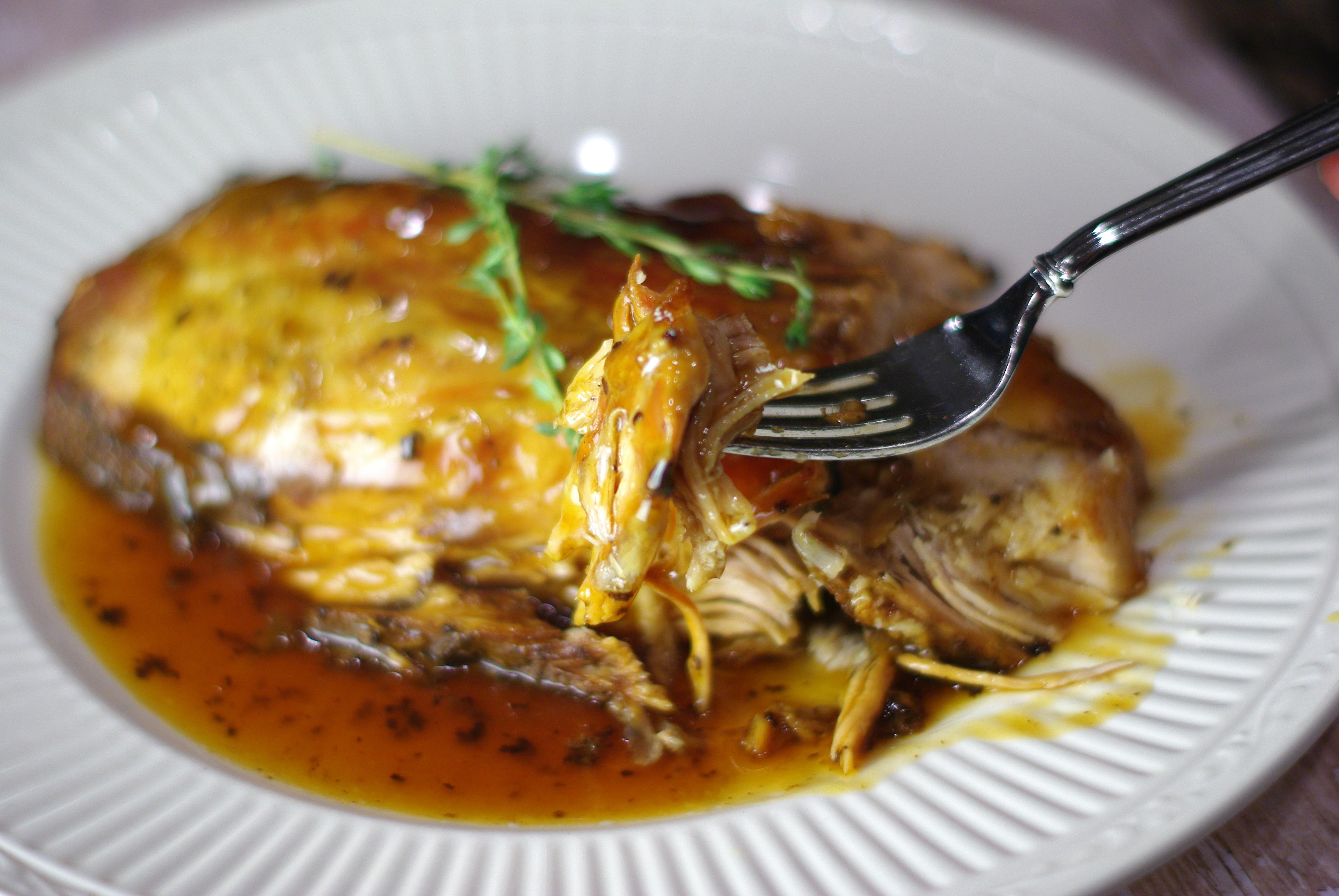 Roasted Pork Loin with a Honey Balsamic Wine Sauce