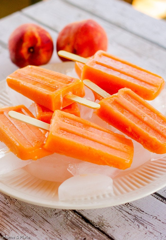 Peach Ginger Ice Pops
