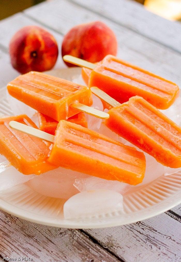 Peach Ginger Ice Pops