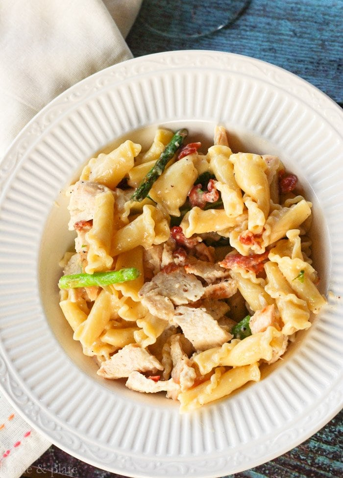 Chicken Campanelle with Bacon & Asparagus