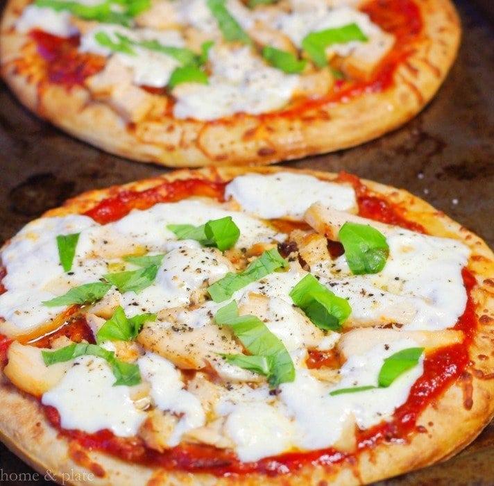 Individual Barbecue Chicken Pizzas