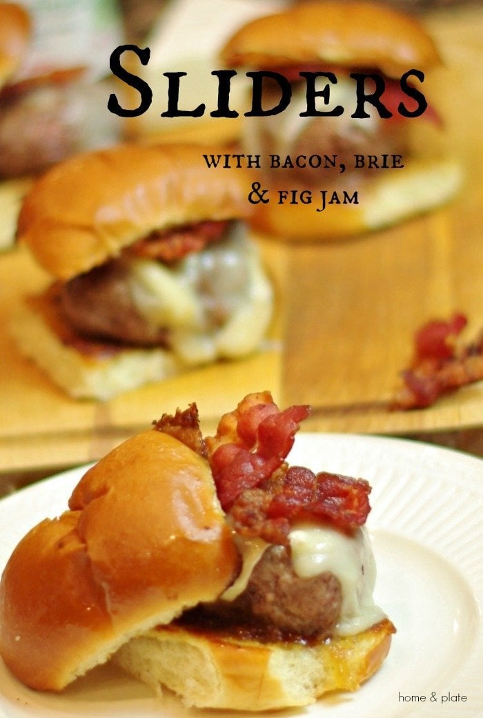 Lamb Sliders with Bacon, Brie & Fig Jam