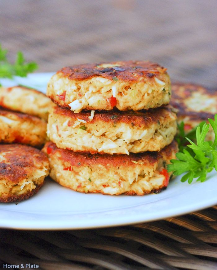 Classic Old Bay Crab Cakes with Roasted Red Peppers