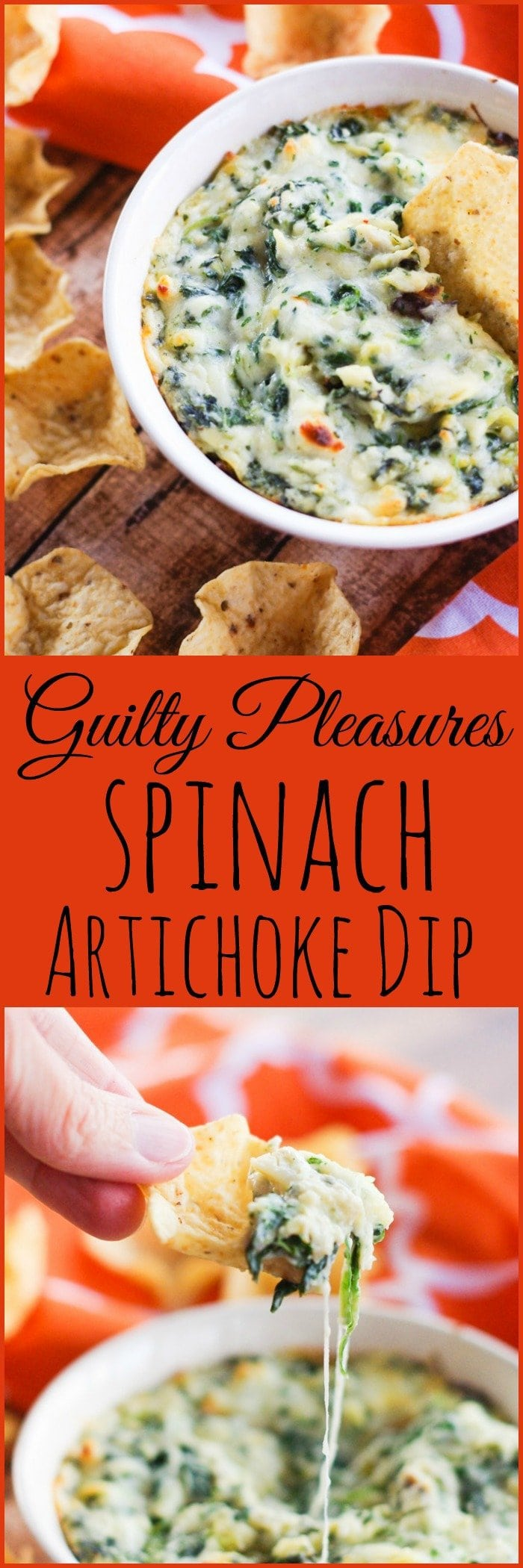 Guilty Pleasures Spinach Artichoke Dip | www.homeandplate.com | It