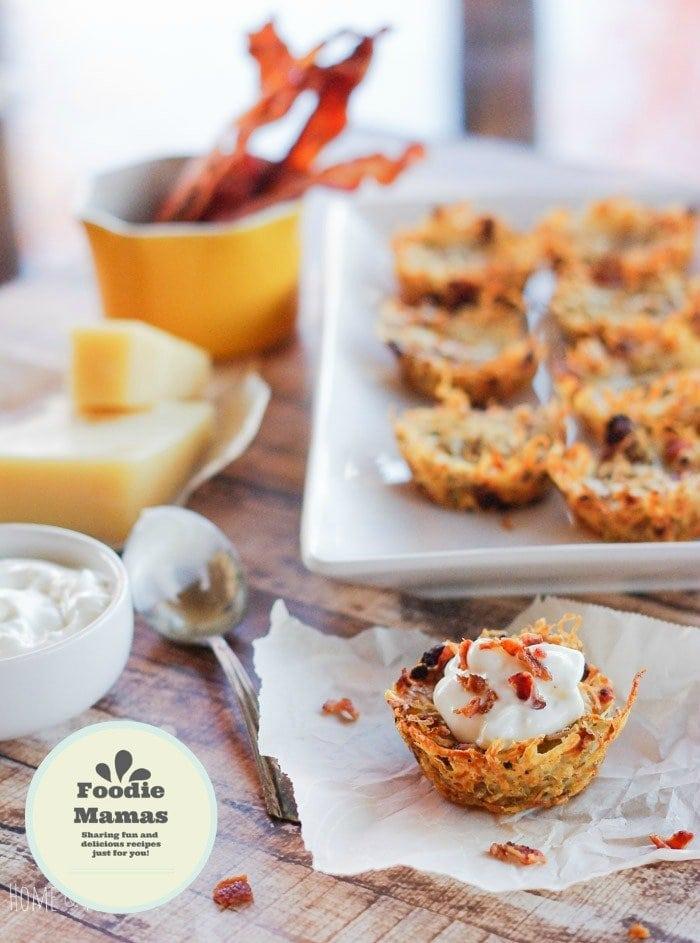 Potato Muffins with Gruyere & Bacon