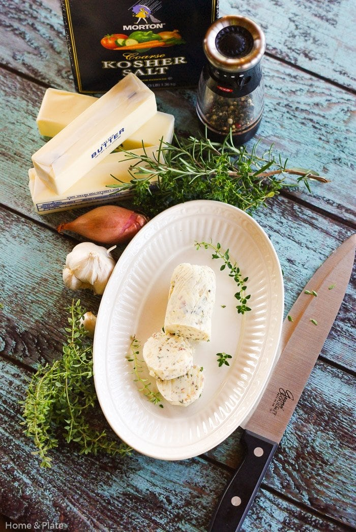 Compound Butter with Garlic, Shallots & Herbs