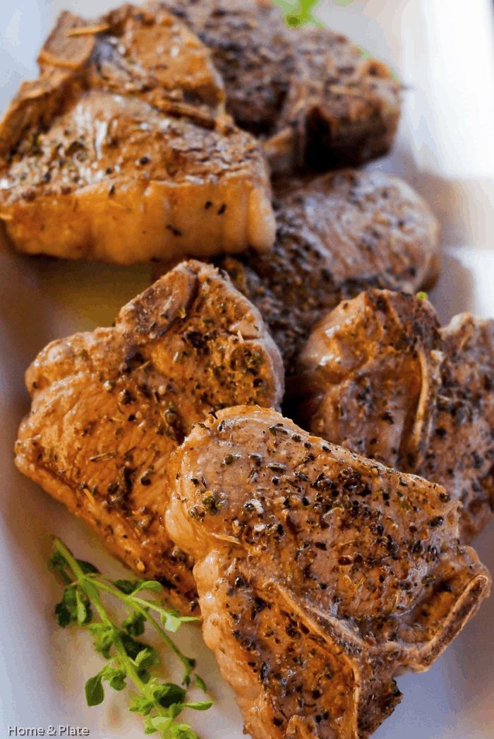 Salt Seared Lamb Chops