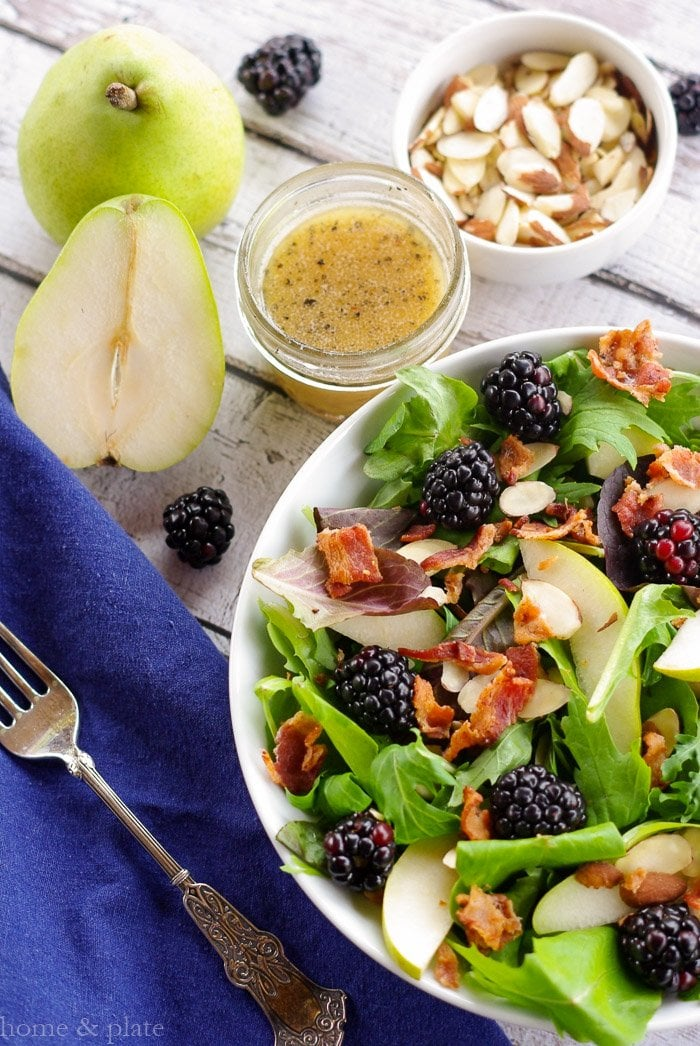 Pear & Blackberry Salad