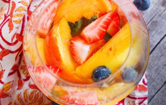 Fruity Elderflower Sangria