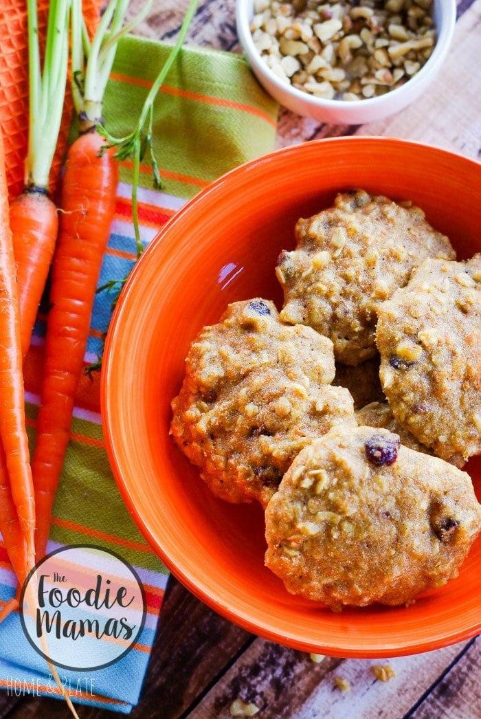 Soft Batch Oatmeal Carrot Cake Cookies