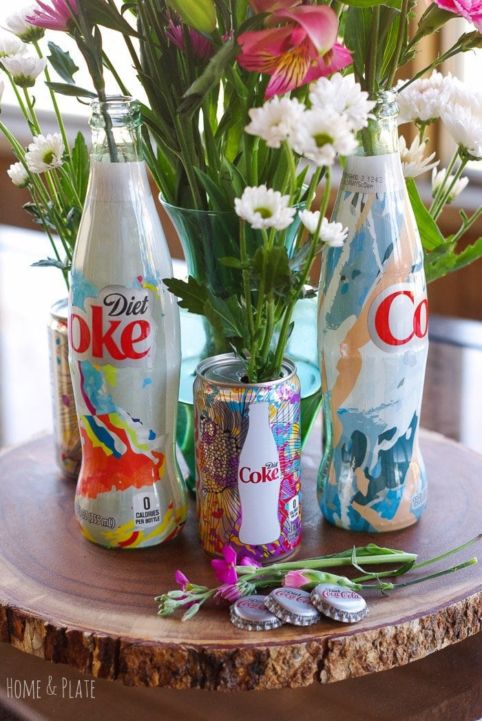 Stunning Floral Centerpiece Featuring Diet Coke