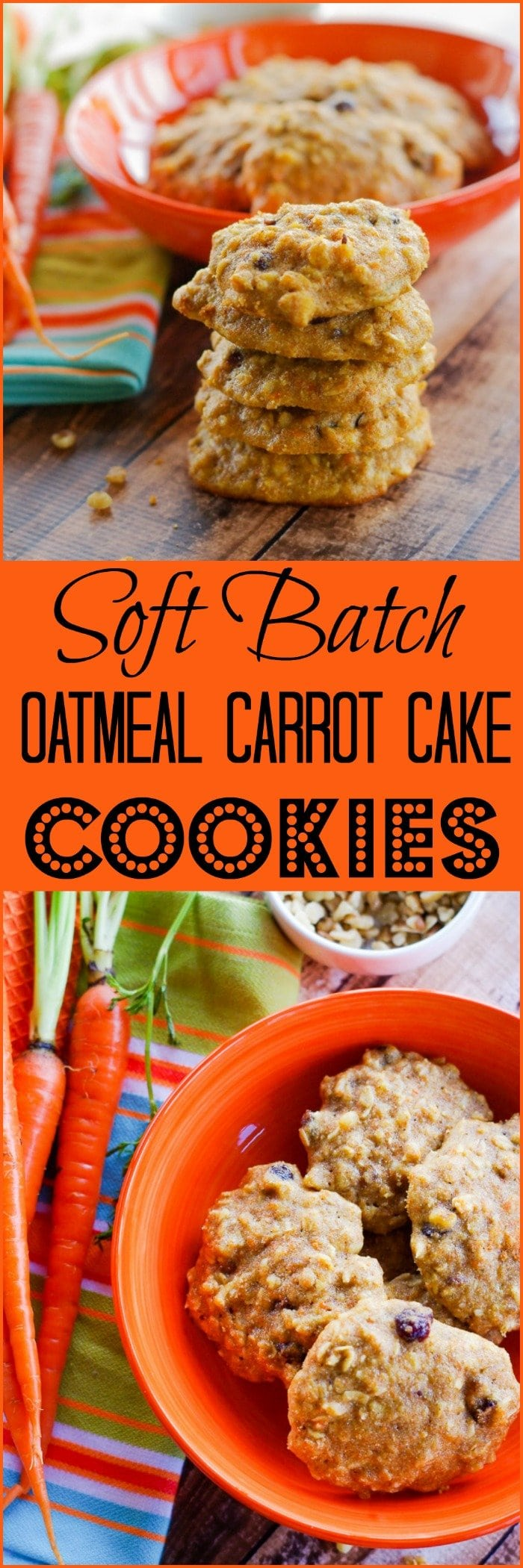 Soft Batch Oatmeal Carrot Cake Cookies | www.homeandplate.com | They
