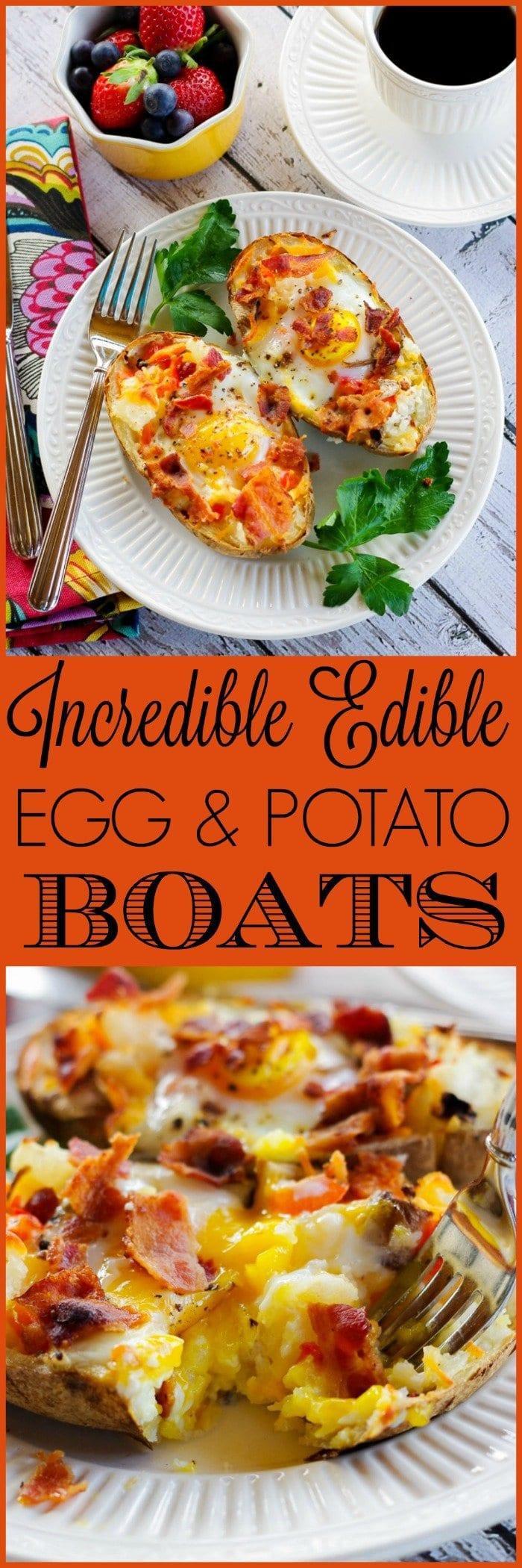 Incredible Edible Egg & Potato Boats | www.homeandplate.com | Transform last night