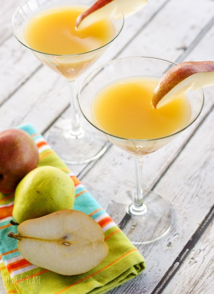 French Pear Martini with Elderflower