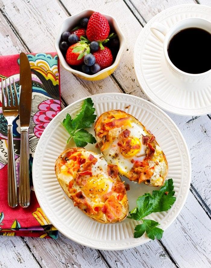 Incredible Edible Egg & Potato Boats
