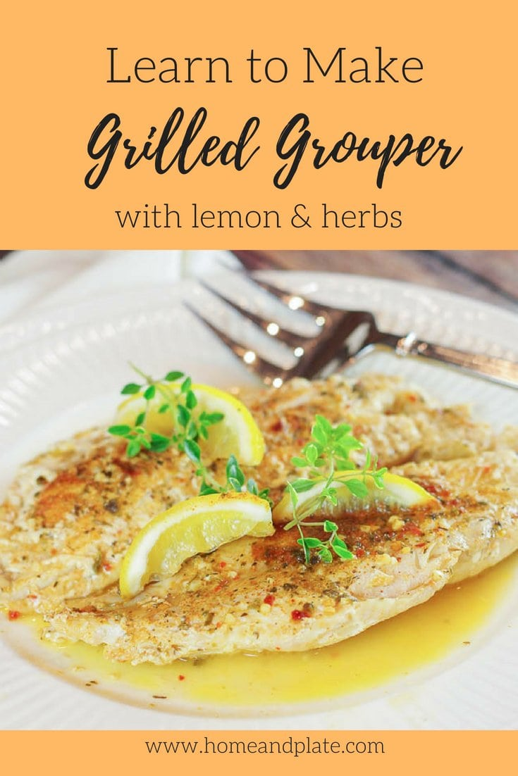 Grilled Grouper with Lemon & Herbs | This flaky grouper recipe with lemon and herbs is intended for the grill.