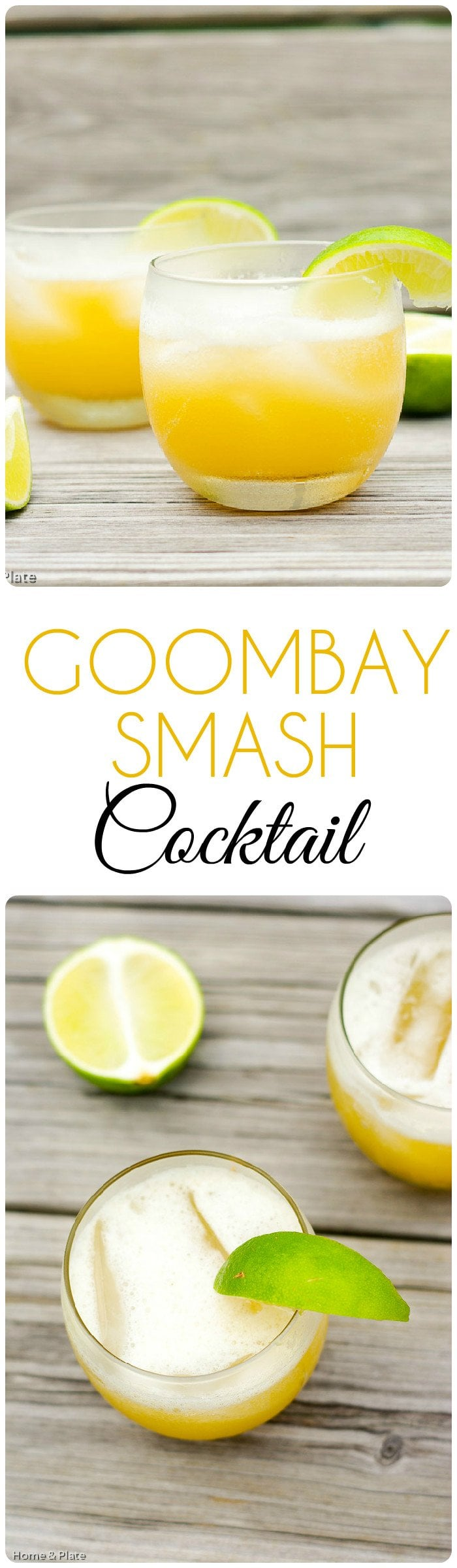 Goombay Smash Cocktail | Home & Plate | www.homeandplate.com | The taste of coconut and pineapple makes this a beach favorite cocktail of mine.
