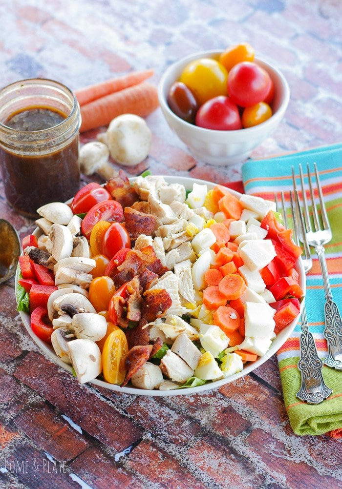 Healthy Cobb Salad with an Aged Balsamic Vinaigrette