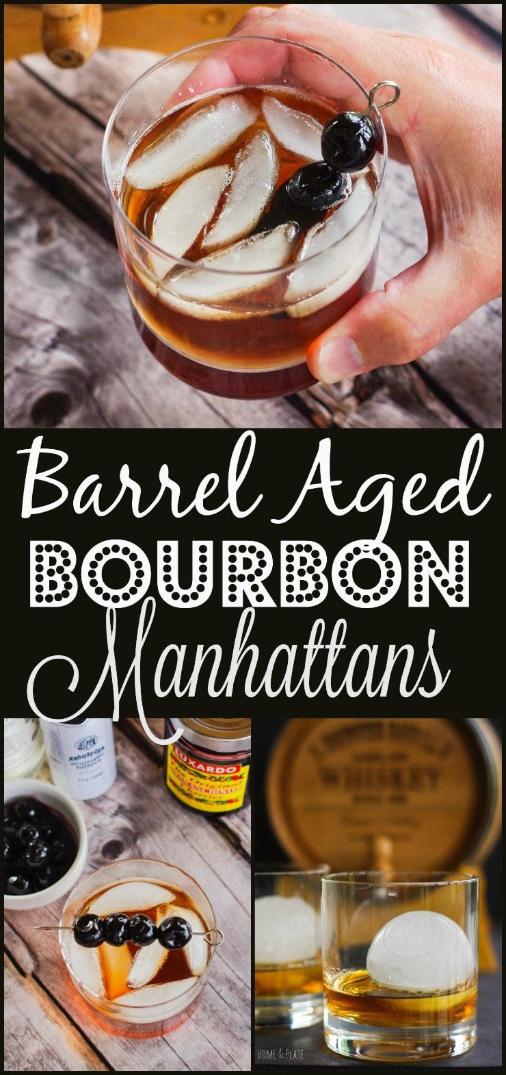 Barrel-Aged Bourbon Manhattan   www.homeandplate.com   A 5-liter miniature oak barrel is the perfect size for accentuating the flavor of quality whiskeys and bourbons. If you