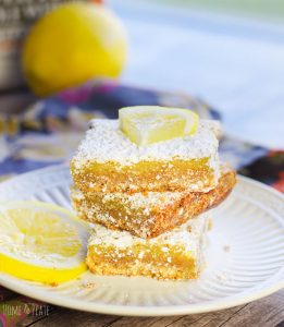Graham Crusted Lemon Squares