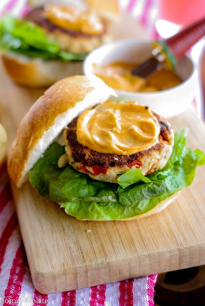 Old Bay Crabcake Sandwich with a Chipotle Mayo | www.homeandplate.com | This sandwich is all about the crabmeat - your getting plenty of bread via the roll.