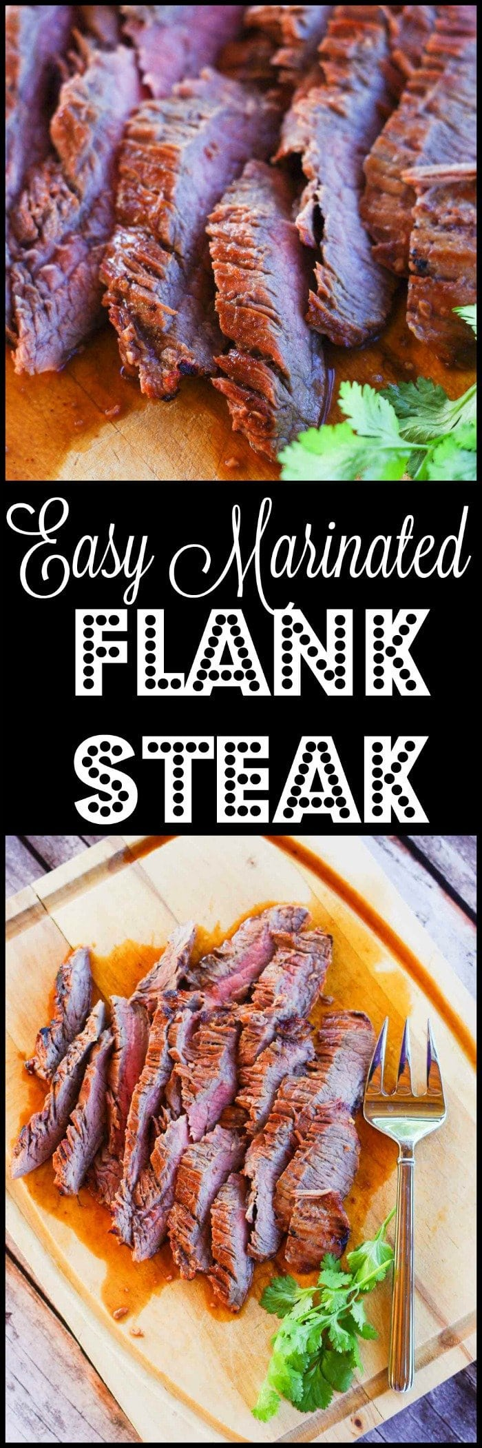 Easy Marinated Flank Steak | www.homeandplate.com | My marinated flank steak is tender, full of flavor and just melts in your mouth.