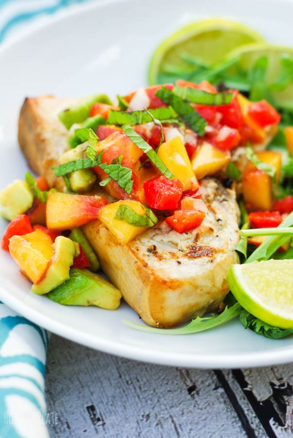 Grilled Swordfish with a Fruit Salsa