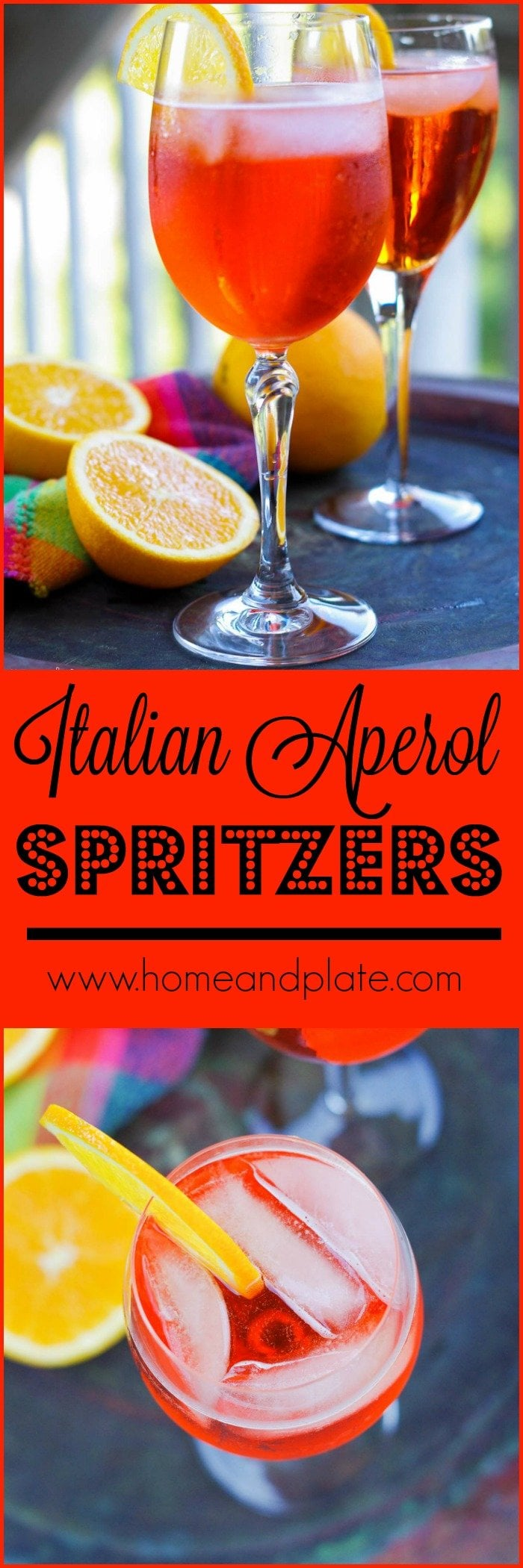 Italian Aperol Spritzers | Imagine a bubbly concoction of sparkling Prosecco white wine paired with soda water with the underlying flavor of oranges, herbs and spices.