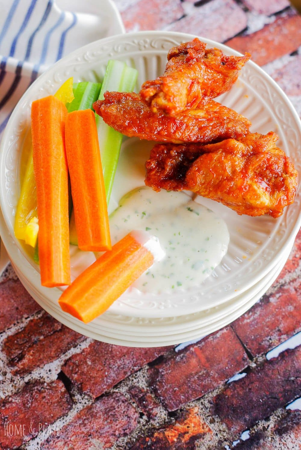 #Ad - Cilantro Ranch Dipping Sauce - for wings & veggies   www.homeandplate.com   It