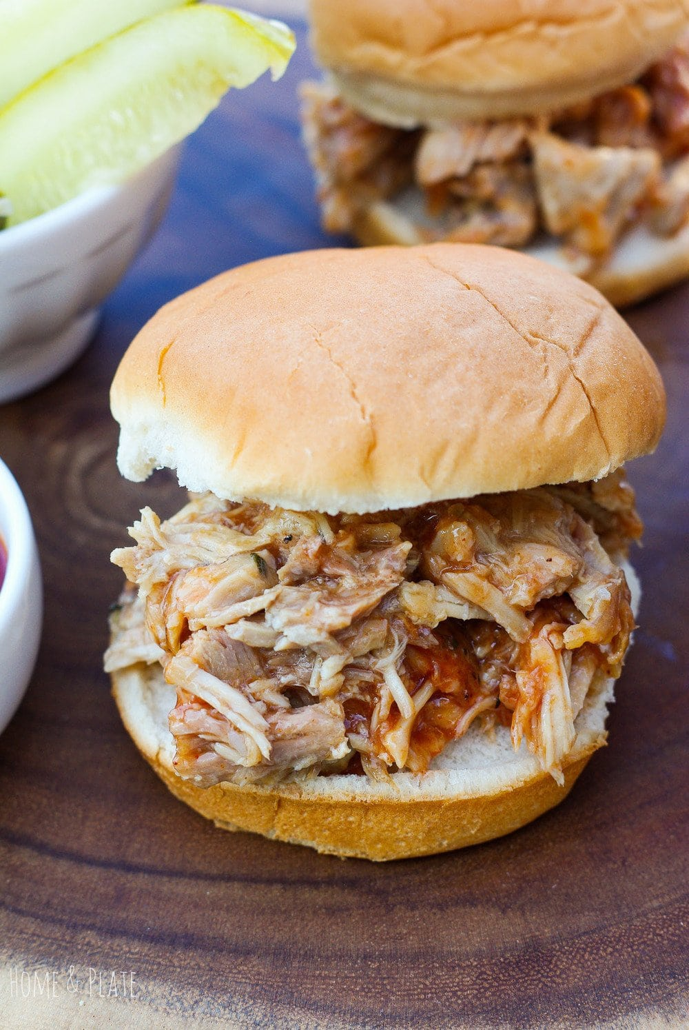 Barbecued Pulled Pork Sandwiches