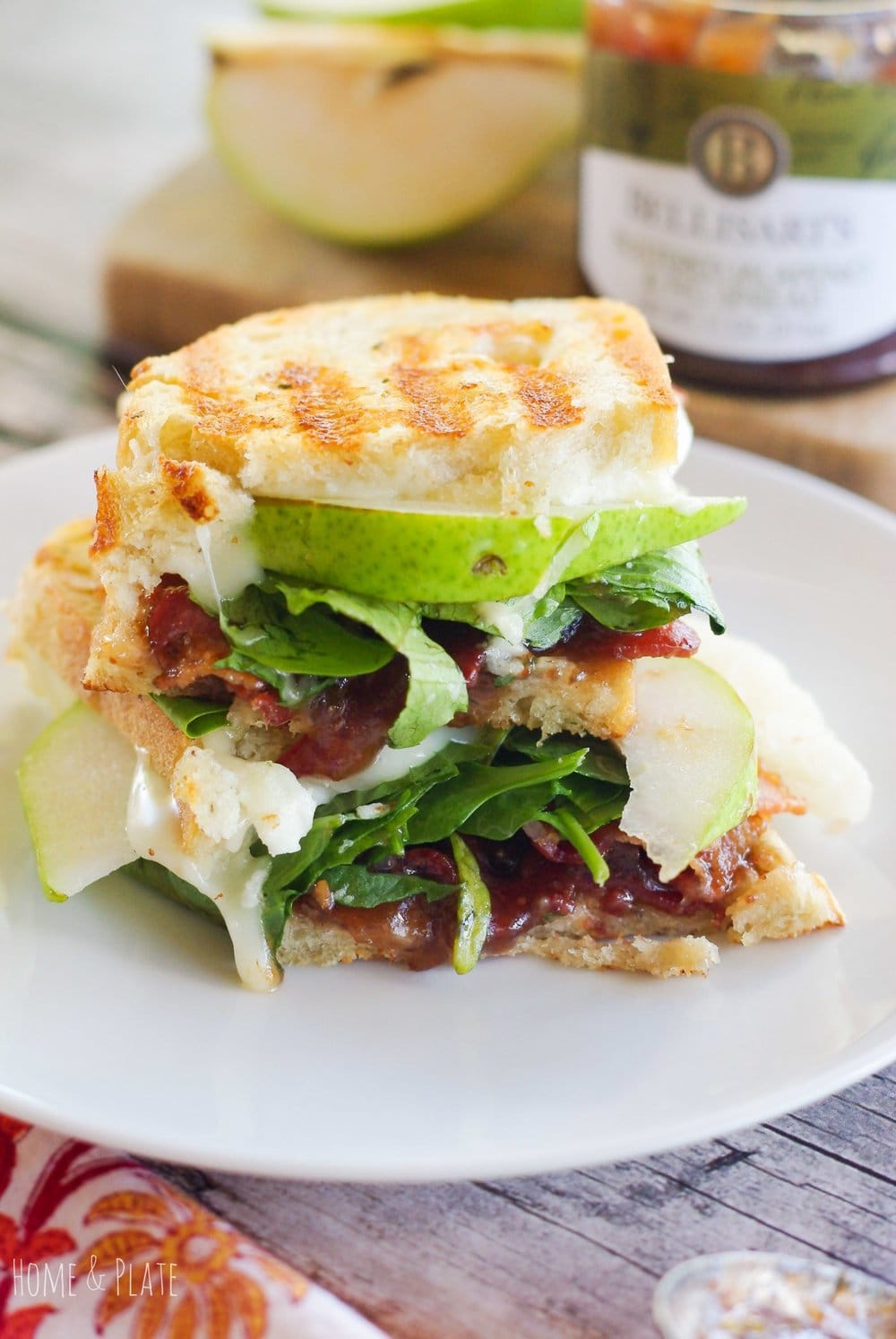Pear, Bacon & Brie Panini