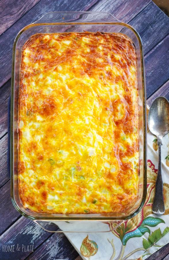 Hash Brown Egg Bake | www.homeandplate.com | It
