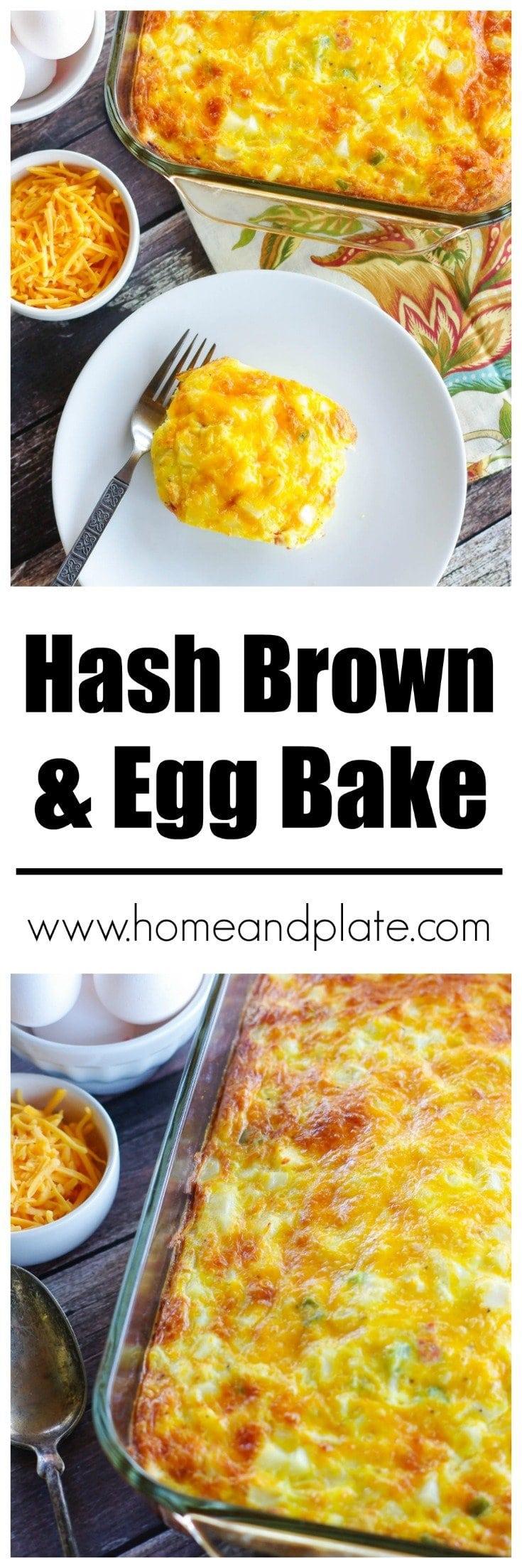 Hash Brown Egg Bake | www.homeandplate.com | It