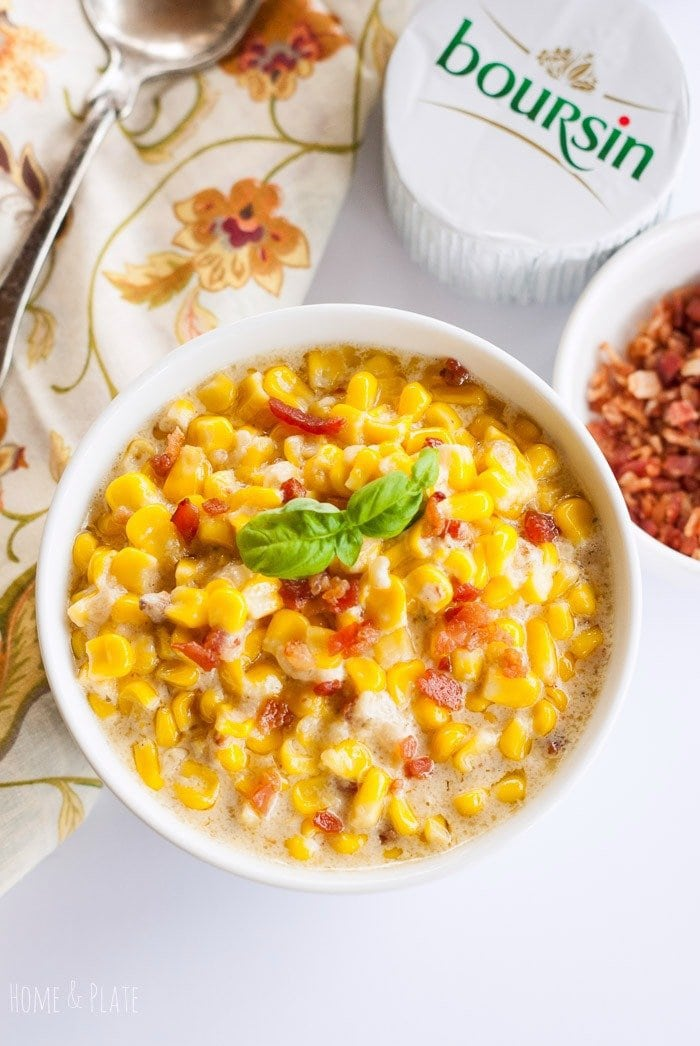Boursin Creamed Corn