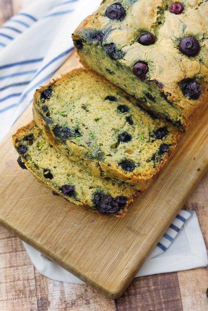 Easy Blueberry Zucchini Bread