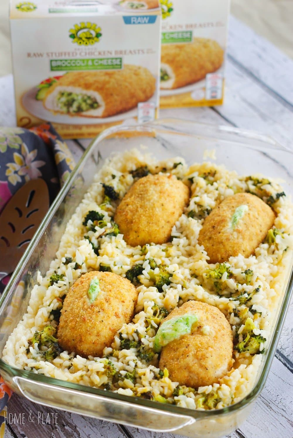 Oven Baked Broccoli & Cheddar Risotto