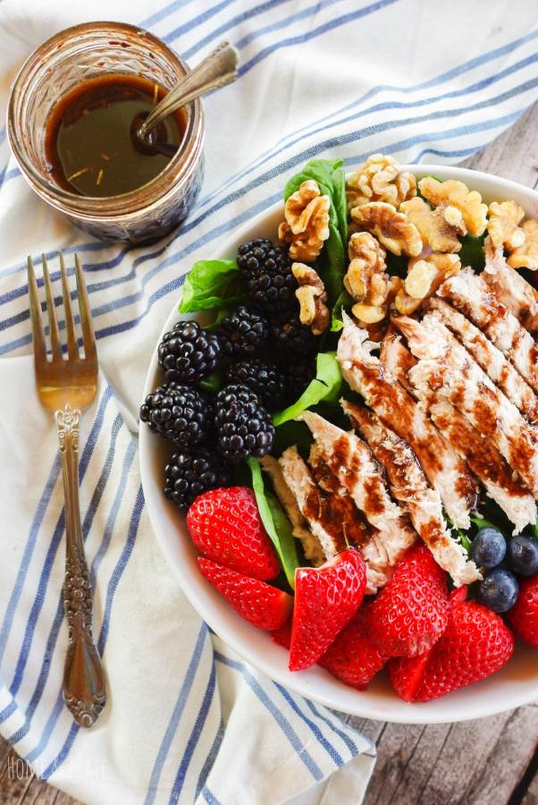 Summer Berry Salad with Grilled Turkey