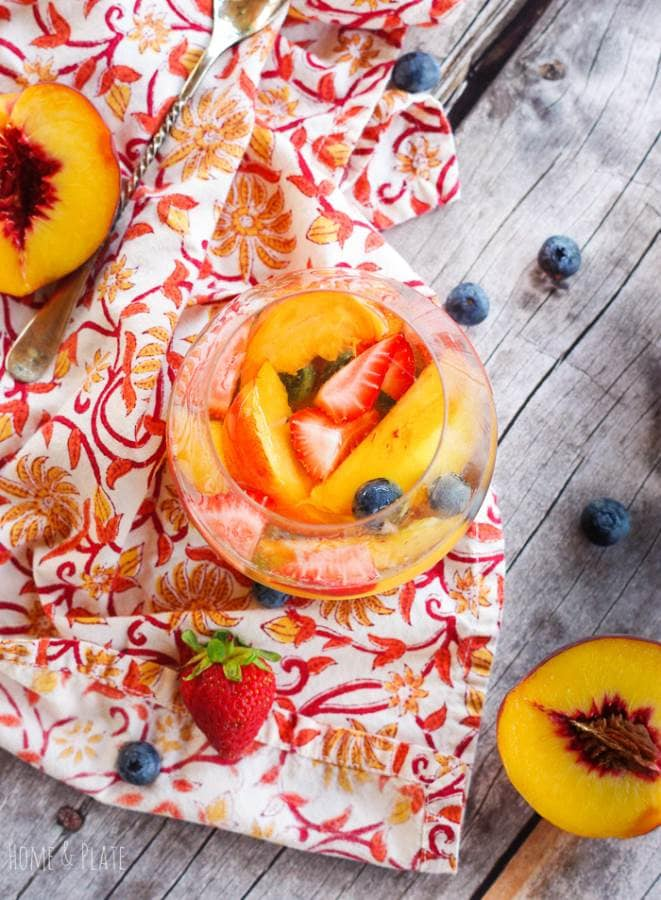 Fruity Elderflower Sangria