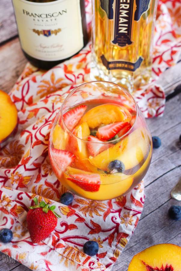 Fruity Elderflower Sangria | Summer