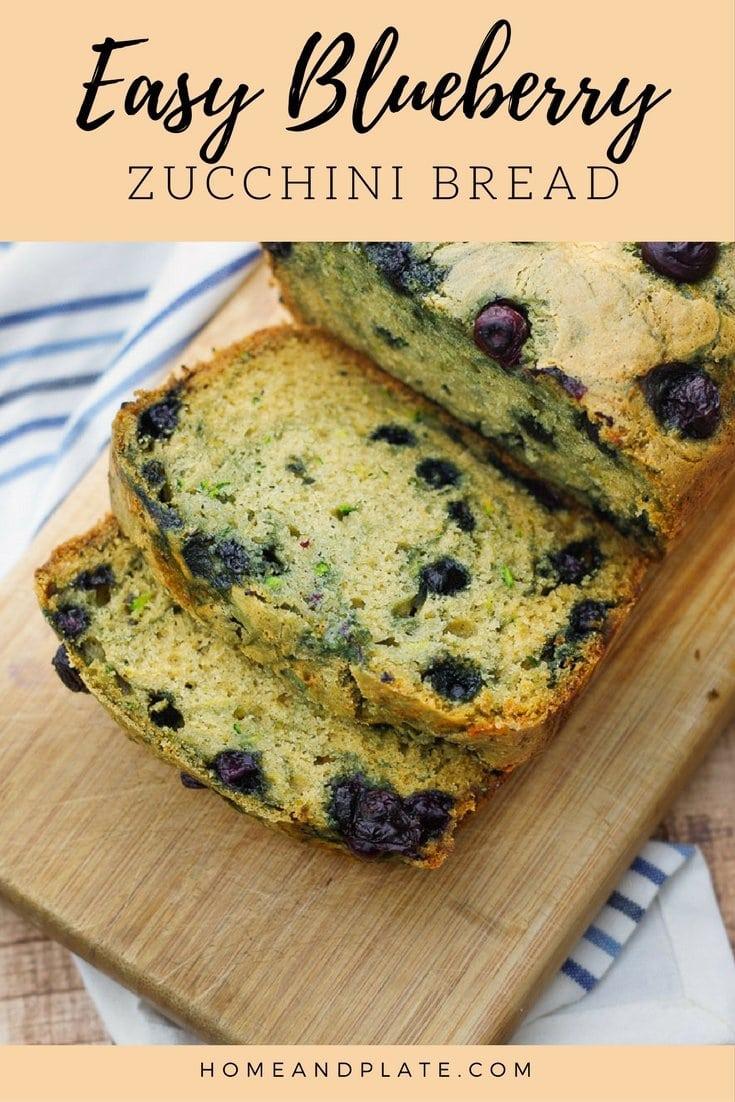 Easy Blueberry Zucchini Bread| It