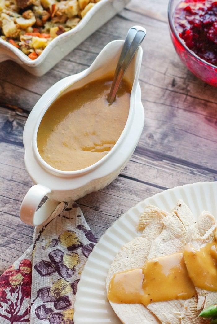 Recipe for Giblet Gravy | www.homeandplate.com | Roasted turkey just isn