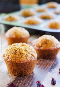 Apple Carrot Oatmeal Muffins