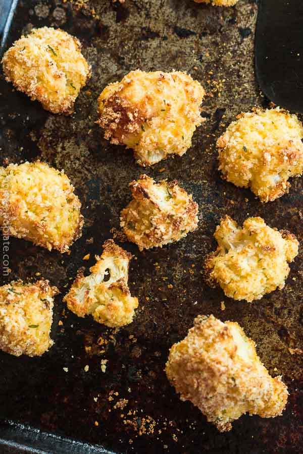 Roasted Cauliflower with Parmesan and Panko
